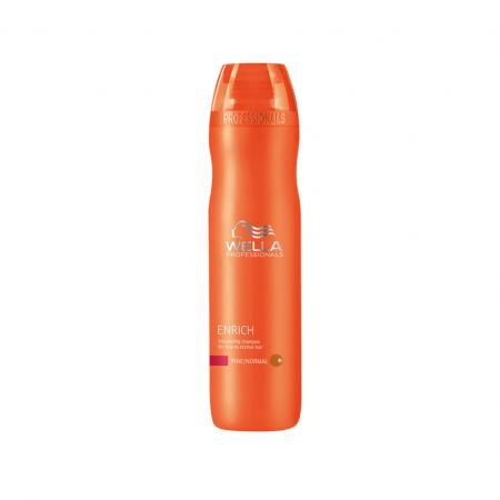 Wella Enrich Coarse Drėkinantis šampūnas pažeistiems ir šiurkštiems plaukams 250 ml